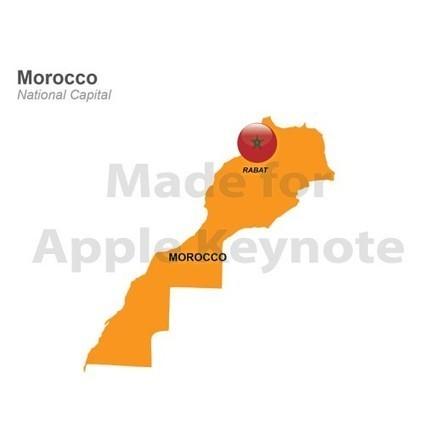 Map of Morocco for iPad Keynote Slides | Apple Keynote Slides For Sale | Scoop.it