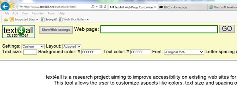 text4all Web Page Customizer | Inclusive teaching and learning | Scoop.it