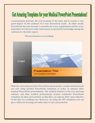 Medical Powerpoint Presentations | Free Power Point Templates | Scoop.it