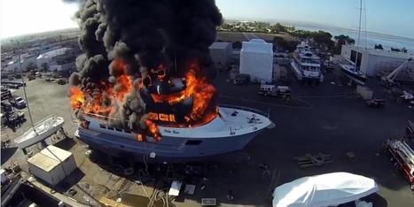 VIDÉO. Un drone filme un yacht à 24 millions de dollars partir en ... - Le Huffington Post   Drone et prises de vues aériennes   Scoop.it
