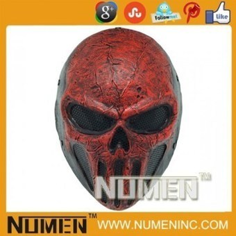 Full Face Red Skull Punisher Metal Mesh Army of two paintball mask | Airsoft Paintball Mask | Scoop.it