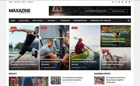 MAXAZINE | Blogger themes | Scoop.it