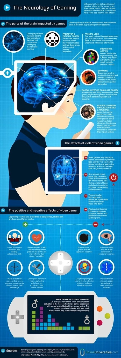 The Neurology of Gaming [Infographic] HR, Recruiting, Social Media Policies, Human Resources, HR Technology Blogging4Jobs | social network analysis | Scoop.it