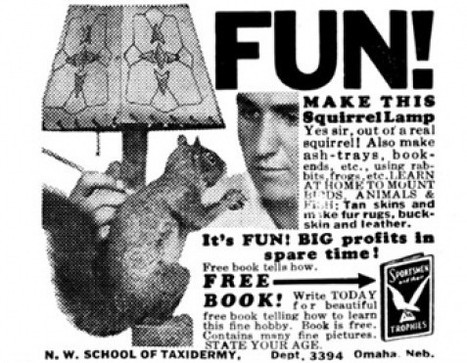 """FUN! Make this squirrel lamp"", 1933 