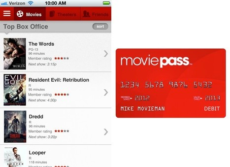 MoviePass launches iPhone app and card combo, takes unlimited ... | iOS Lovers | Scoop.it