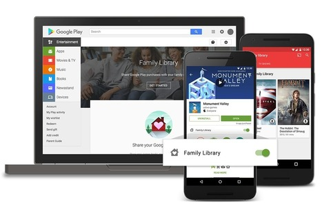 Google Play Family Library Lets (Some) Share eBooks, Other | Ebook and Publishing | Scoop.it