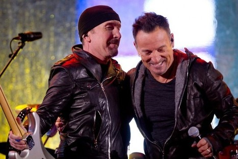 U2 accueille les Clinton et Springsteen à New York - LaPresse.ca | Bruce Springsteen | Scoop.it