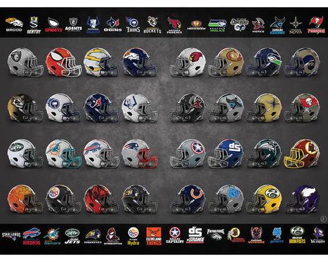 Marvel NFL Helmets | JustKozy | Comic Book Trends | Scoop.it