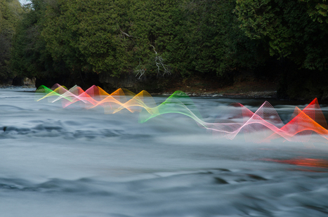 The Motions of Kayaking and Canoeing Recorded through Light Painting on Canadian Waterways | As digitally seen ... | Scoop.it