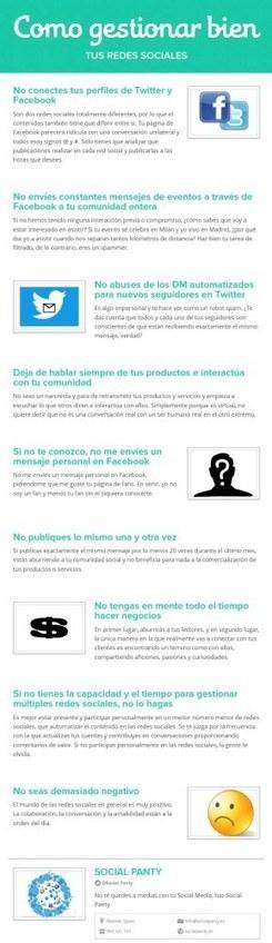 Cómo gestionar bien tus Redes Sociales | Las TIC y la Educación | Scoop.it