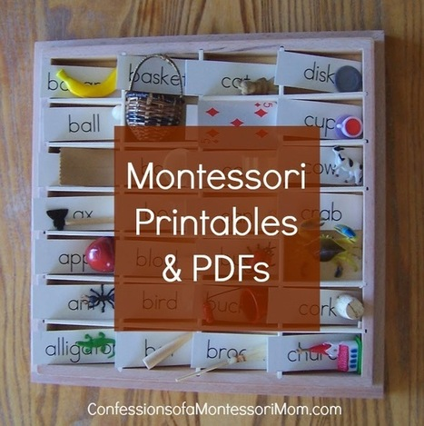 Confessions of a Montessori Mom blog: Montessori Printables & PDFs   lesmontipetits change will free minds   Scoop.it