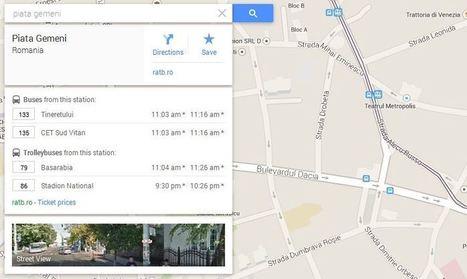 Google Maps afiseaza orele la care ajung in statii mijloacele de transport in comun | DigitalGap | Scoop.it
