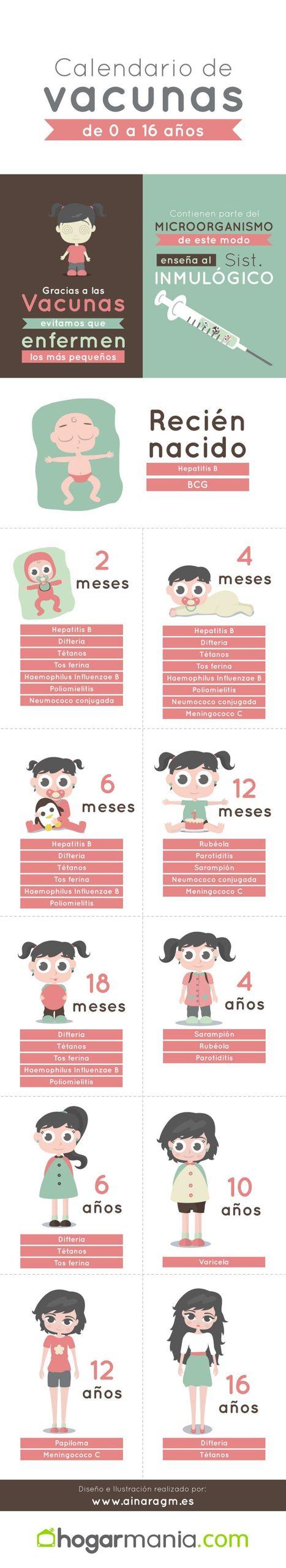 Infografía de calendario de vacunas infantil - Hogarmania | Medicina y Ciencia | Scoop.it