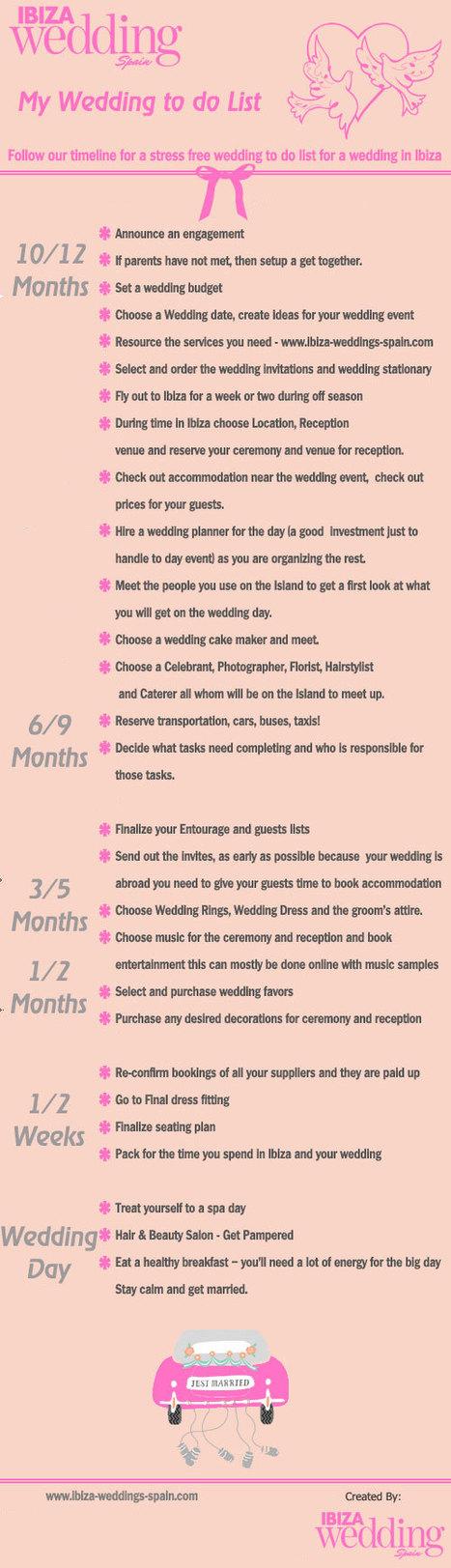 Wedding To Do List   Ibiza Weddings   Scoop.it