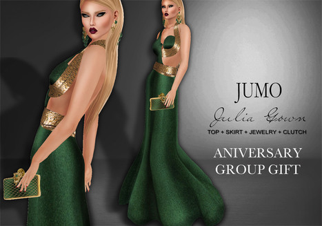 Julia Gown Aniversary Group Gift by JUMO | Teleport Hub - Second Life Freebies | Second Life Freebies | Scoop.it
