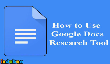 Use Google Docs Research Tool: How-to | Into the Driver's Seat | Scoop.it