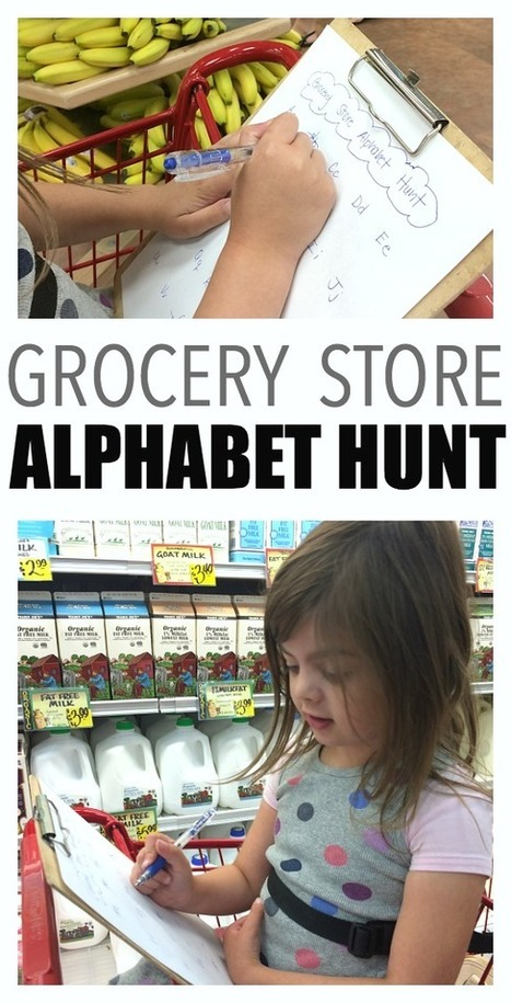 Super Simple Grocery Store Alphabet Hunt - No Time For Flash Cards | Young Learners of English | Scoop.it