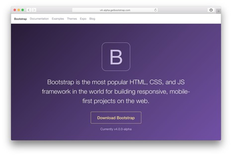 Bootstrap 4 alpha · Bootstrap Blog | web tendencies | Scoop.it