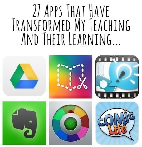 Twenty-seven apps that have changed my teaching and learning practice - Updated - RachelJones | information literacy | Scoop.it