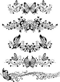 Floral Ornament with butterflies - Vector | Icon | Wallpaper | Vector Icon Wallpaper | Scoop.it