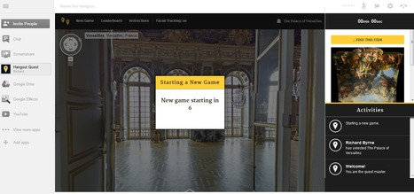 Use Google+ Hangouts for a Virtual Scavenger Hunt in the Palace of Versailles | Time to Learn | Scoop.it