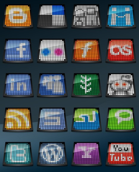 50 Free Social Media Icon Sets @NoupeMag | Digital-By-Design | Scoop.it