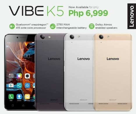Lenovo Vibe K5 with 5-inch HD Display and Snapdragon 415 CPU now available in PH | NoypiGeeks | Philippines' Technology News, Reviews, and How to's | Gadget Reviews | Scoop.it