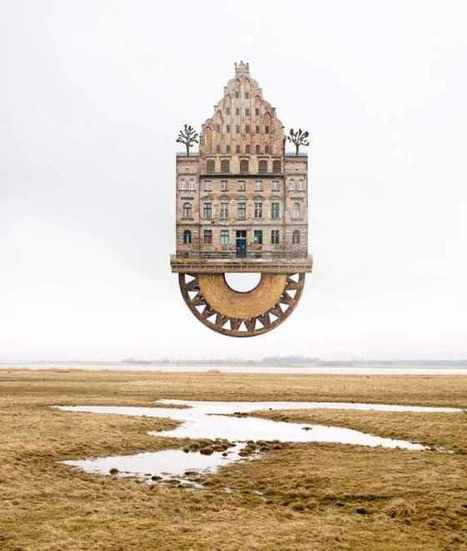 #Surreal #Houses by  Matthias Jung #art #buildings #architecture #photography #collage | Luby Art | Scoop.it