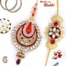 Traditional style Bhaiya-Bhabhi Rakhi pair - Send Rakhi to India   Rakhi Gifts to India, USA, UK, Canada, Australia   Scoop.it