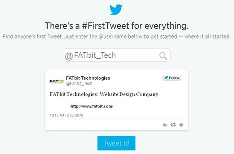 Micro-blogging site, Twitter celebrated 8th birthday with #FirstTweet Tool | Custom eCommerce Website Development | Scoop.it