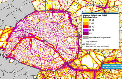 Invisible Paris: Noise Maps of Paris | Cartography | Scoop.it