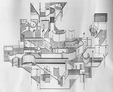 Fracturing and Displacement of Form: Daniel Libeskind's Early Collage Drawings (1967-1970) | The Architecture of the City | Scoop.it
