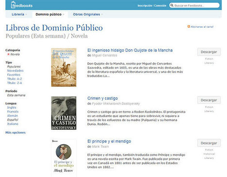 Sitios web para descargar eBooks Gratis Español | #TRIC para los de LETRAS | Scoop.it