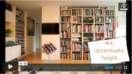 One Minute Tip: Five Style Tricks to Open Up Your Small Space ... | Organizing | Scoop.it