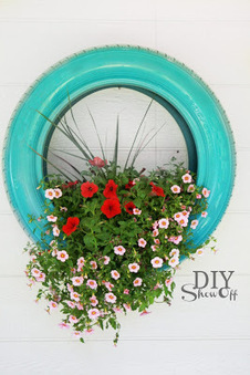 DIY : un pneu recylé en jardinière! | DIY DIY | Scoop.it