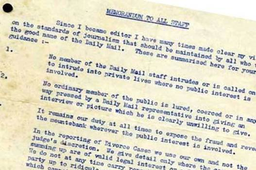 A 1960s memo to Daily Mail journalists on how t...