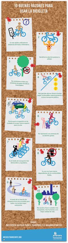 10 buenas razones para usar la bicicleta   Deporte sostenible UNDAV   Scoop.it