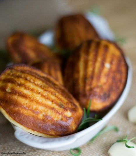 Garlic Rosemary Madeleines | The Man With The Golden Tongs Hands Are In The Oven | Scoop.it