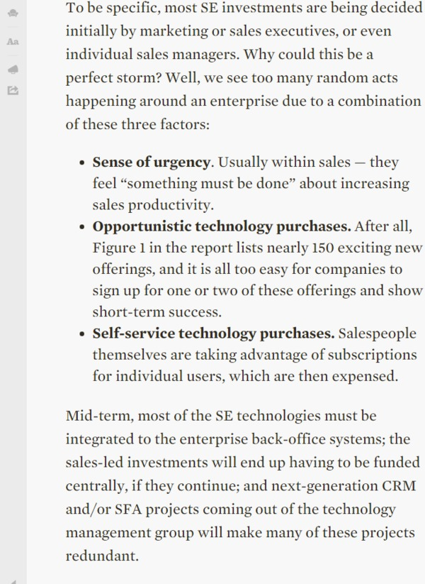 The Sales Enablement Perfect Storm - Forrester | The Marketing Technology Alert | Scoop.it