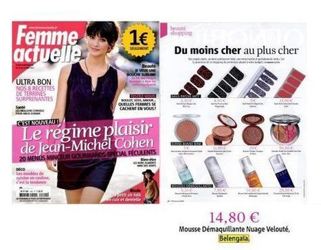 FEMME ACTUELLE, Shopping beauté pour Belengaia   Beauty Push, bureau de presse   Scoop.it