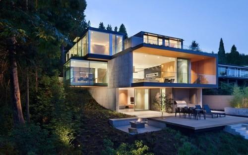 Impressionnante maison bois béton Russet Residence par Slyce ...
