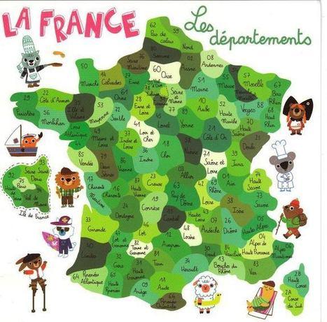 Le français et vous — Voici les départements de la France... | Le Français | Scoop.it