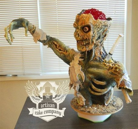 Awesome Zombie Cake: If I New You Were Comin', I'd Have Baked a Brain | All Geeks | Scoop.it