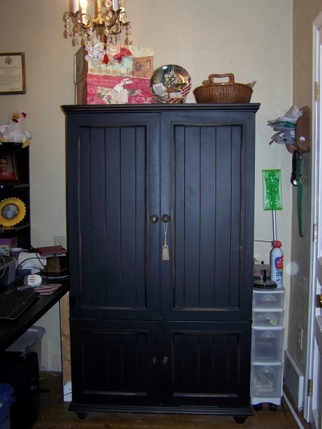 My Recycled Old Armoire or TV Cabinet. Reuse of Old Furniture In Small Places. | Odds and Ends | Scoop.it
