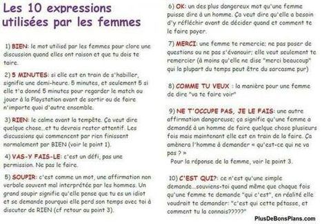 Les 10 expressions utilisées par les femmes   French teaching stuff   Scoop.it
