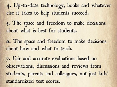 The Teacher Bill Of Rights | Educational Technology - Yeshiva Edition | Scoop.it