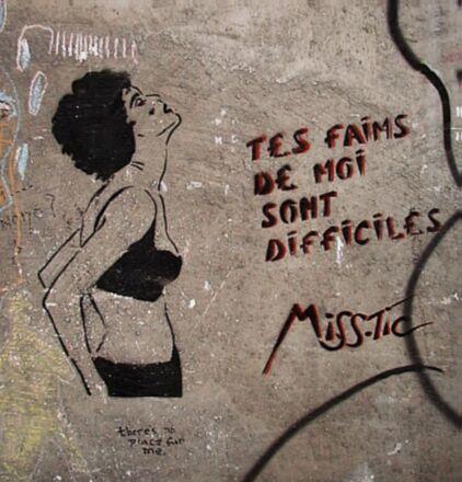 Miss Tic : ses pochoirs classiques sur les murs de paris | Ateliers créativité (AFB) | Scoop.it