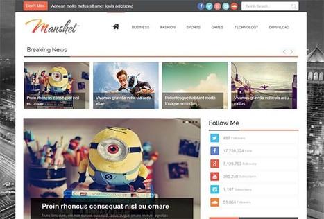 Manshet Responsive Blogger Template | Blogger Templates | Scoop.it
