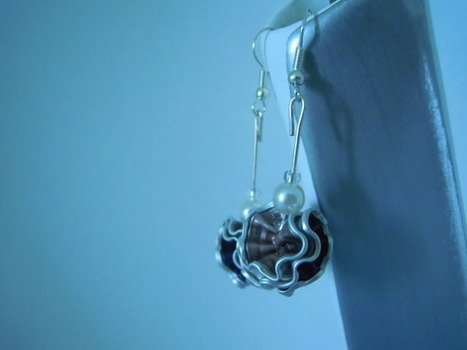 boucles d'oreilles capsules de nespresso rose/violette  : Boucles d'oreille par bijbox | bij - box ( bijoux à partir de capsules nespresso) | Scoop.it