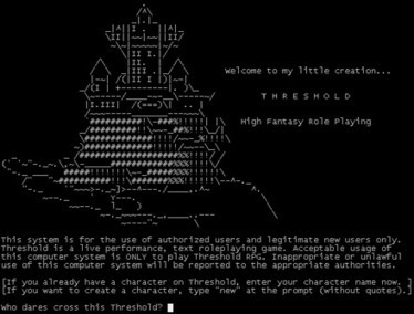 Threshold (online game) | Wikiwand | ASCII Art | Scoop.it